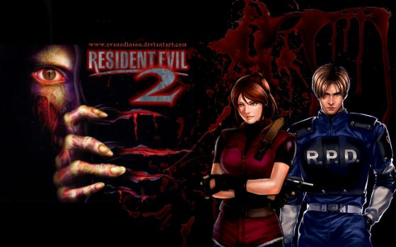Resident Evil 2 Claire and Leon by EvanOdinson