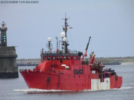 Danish standby Safety vessel Esvagt Supporter 1989 by roodbaard1958