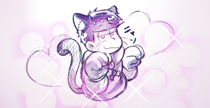 Yknow, like, 'Nyan'? by minteaparty