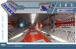 Exploration Space Ship Interior by spidermc