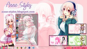 Theme Super Sonico Win 7 by AnneChan34