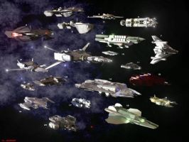 Ships of the Freelancers by ILJackson