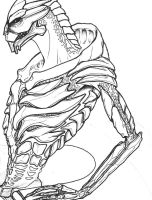 Naked Turian Anatomy by CyberII