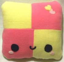 Battenburg Plush Pillow by SugarJerseyJones