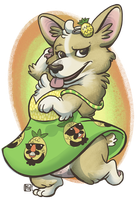 Pineapple Corgi by kozispoon