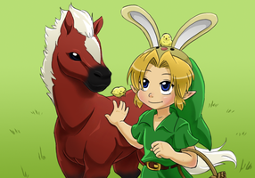Easter - Young Link by Left-Handed-Knight