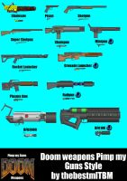 Doom Weapons PMG Style by thebestmlTBM