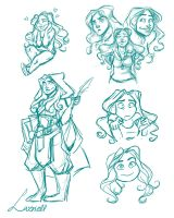 Riell sketches by Lazriell