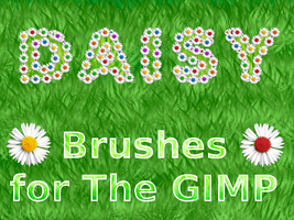Daisy Brushes -for The GIMP by BaNaNA-BOi