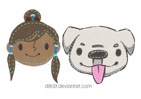 Korra and Naga Patches by ditto9