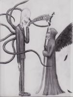 Slenderman meets Death by TheLeviathan666