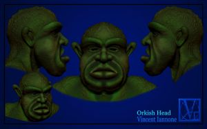 Orkish Head Sculpt by DeaconStone