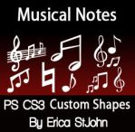 Music Symbols PSCS3 Shapes by estjohn