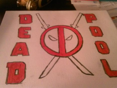 Deadpool Canvas Basic by Sresian989