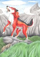 The Mighty Howl - ACEO Trade by PoonieFox