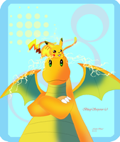 Pikachu and Dragonite:Electric Piggyback!! by BlueySerperior