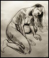 nude with long hair by fleetofgypsies