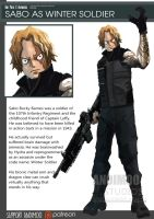 One Piece Avenger Sabo the Winter Soldier by AndiMoo