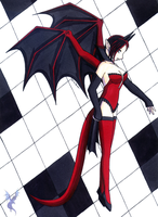 Gothic Dragon-Girl by aoi-ryu