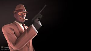 SFM Poster: The Spy w/ Mauser C96 by PatrickJr