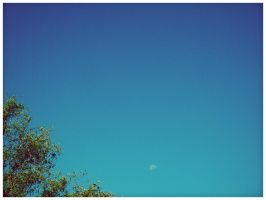 the moon, daytime by geyl