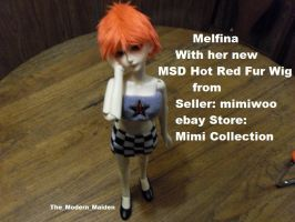 Melfina Red Fur Wig 2 by The-Modern-Maiden