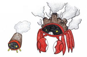 vent crabs OLD by FrozenFeather