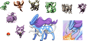 Assorted Pokemon Scratch Sprites by GoldFlareon