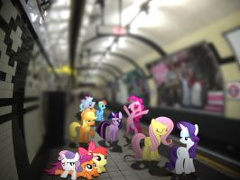 Ponies at the Subway by HAchaosagent