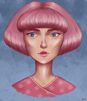 Pink bob by Mannylinn