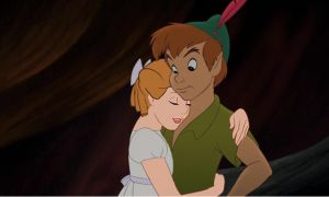 Peter Pan and Wendy a suprising hug by Rapunzel-Magic-Frost