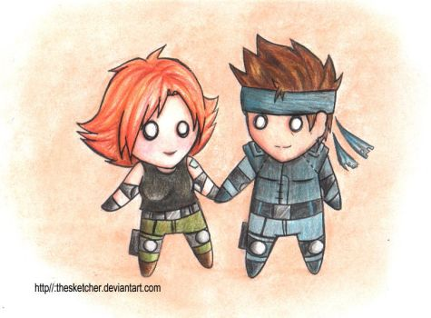 Metal Gear Solid: SnakexMeryl by TheSketcher