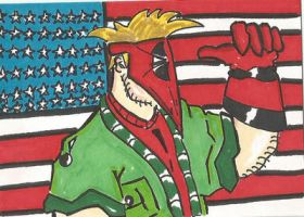 Grifter 4th of July sketch card by kylemulsow
