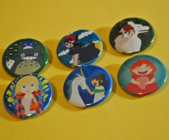 Ghibli Button Set by radtastical