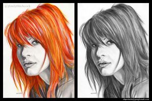Hayley Williams colour and non-colour. by EmilyHitchcock