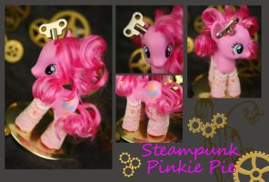 Steampunk Pinkie Pie by bluepaws21