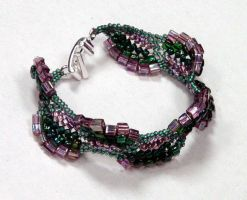 Dragon Scales Bracelet by beadg1rl