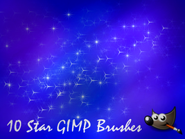 10 Star GIMP Brushes by PkGam
