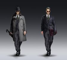 Detective character design by Silberius