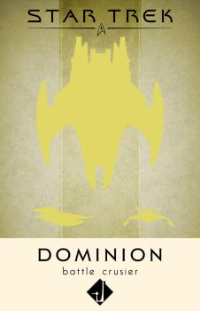 Dominion Battle Cruiser Poster by LiquidSoulDesign