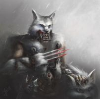 The shaman of the clan Northern wolf by Byblio