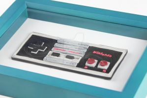 Paper Quilling - NES Controller (1) by wholedwarf
