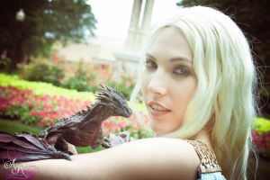 Daenerys and our Dragon Kit Cosplay by RavendarkCreations