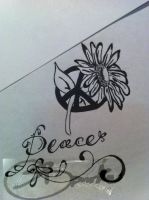 peace tattoo by DontEvenTripBro