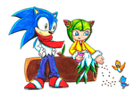 PC - Sonic and Cosmo by aprict