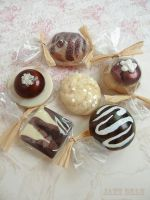 Chocolate candy fridge magnets by janedean