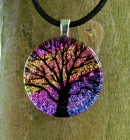 Pink Mix Tree of Life Glass by FusedElegance