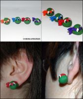 TMNT Earrings by ChibiSilverWings