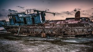 Forgotten Barge HDR by AELLENALEX
