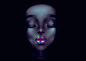 Lips by BunniniArt